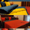 Dual Colour Soft Blanket with Up to Four Free Pillowcases